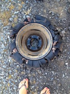 Flat tyre number 365 | South African road trip