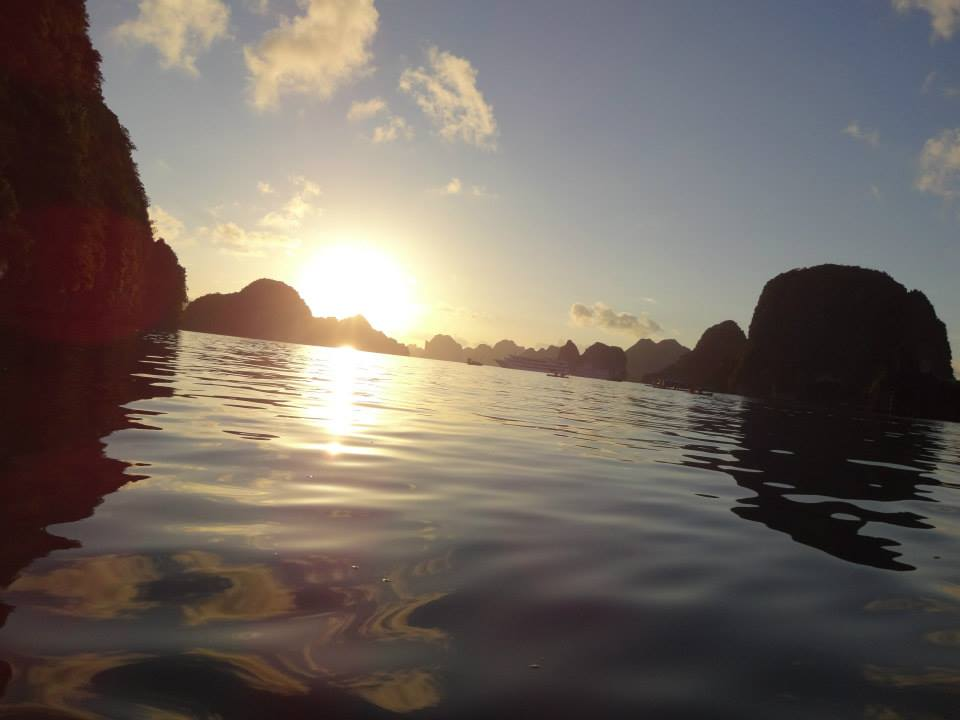 Sunset Kayak in Halong Bay (photo by Katie D)