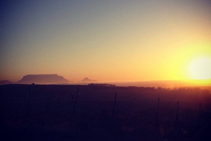 Table Mountain sunset | travel blog