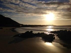 Sunset over Pringle Bay beach