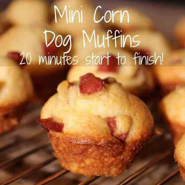 Mini corn dog muffins  - 20 minute appetizer, start to finish!