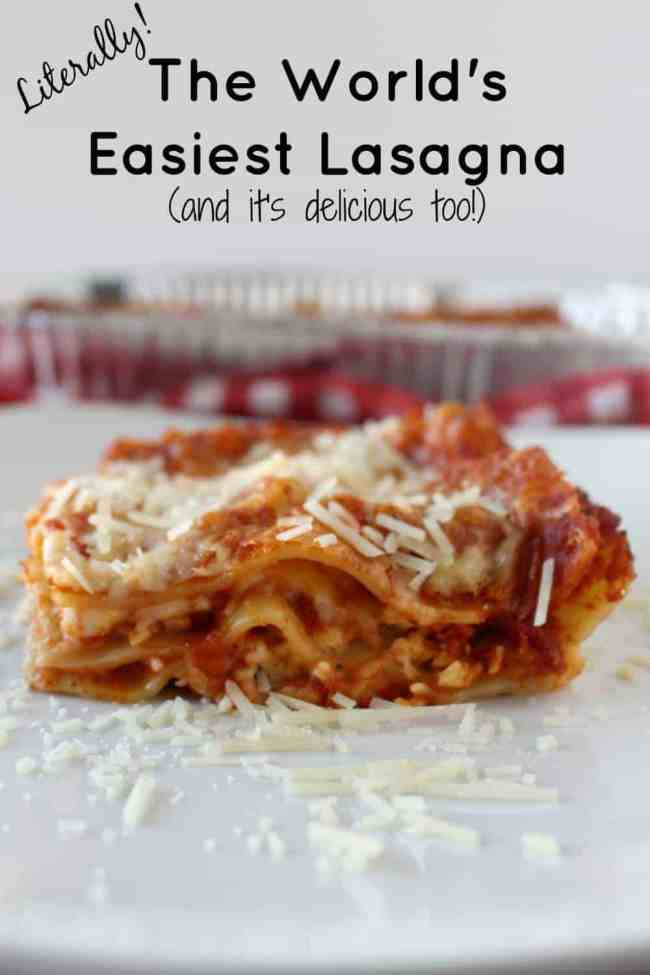 Literally the World's Easiest Lasagna