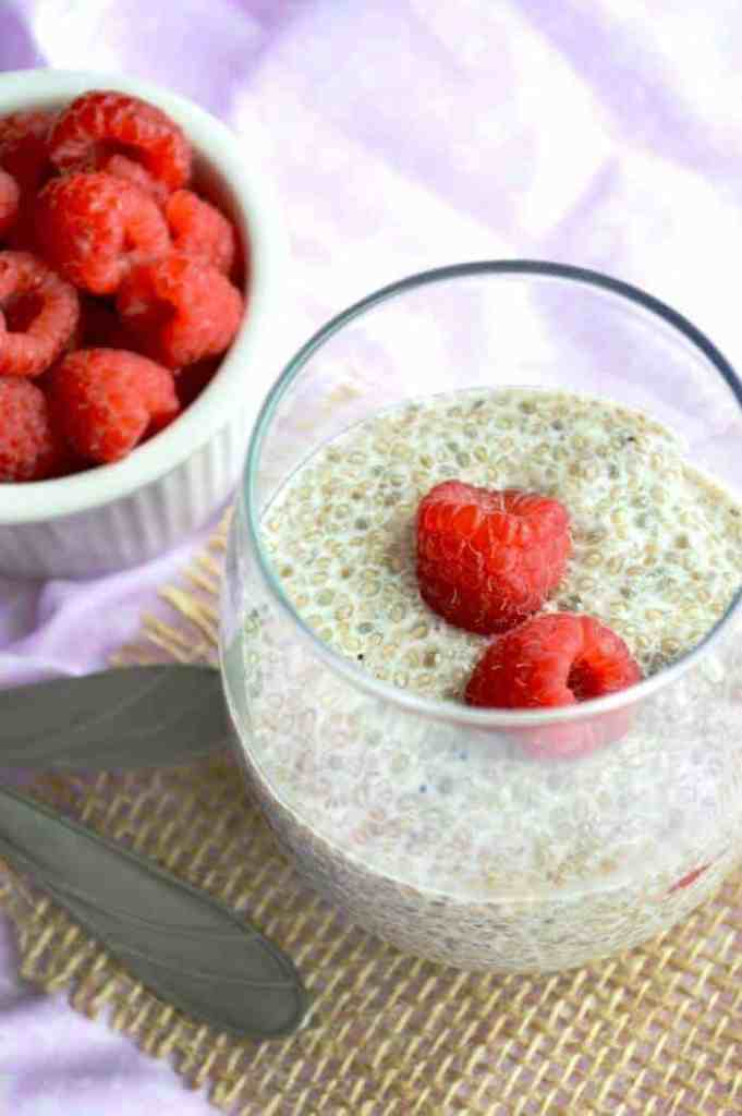 Raspberry & Vanilla Chia Pudding - Breakfast or dessert?! Doesn't matter with this healthy dish.