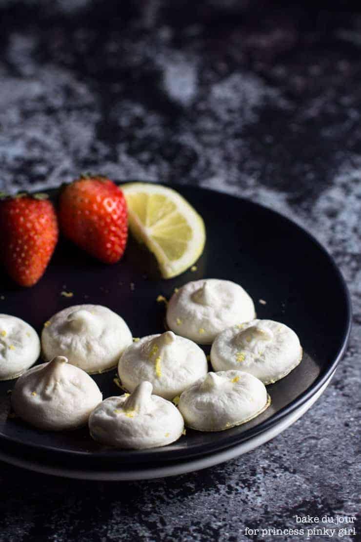 A plate full of Lemon Meringue Cookies