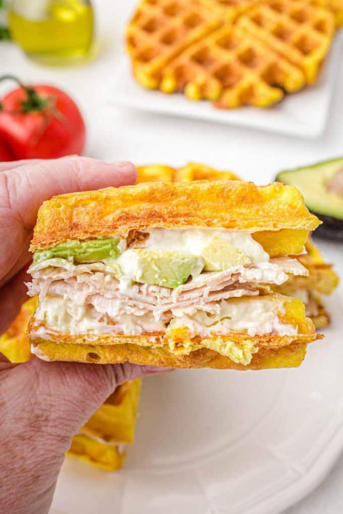 Chaffle sandwich
