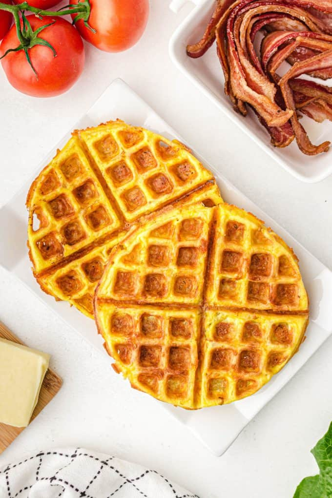 Chaffle with bacon