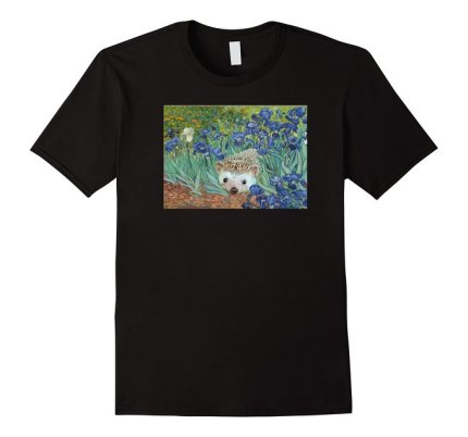 Van Gogh Irises and Hedgehog