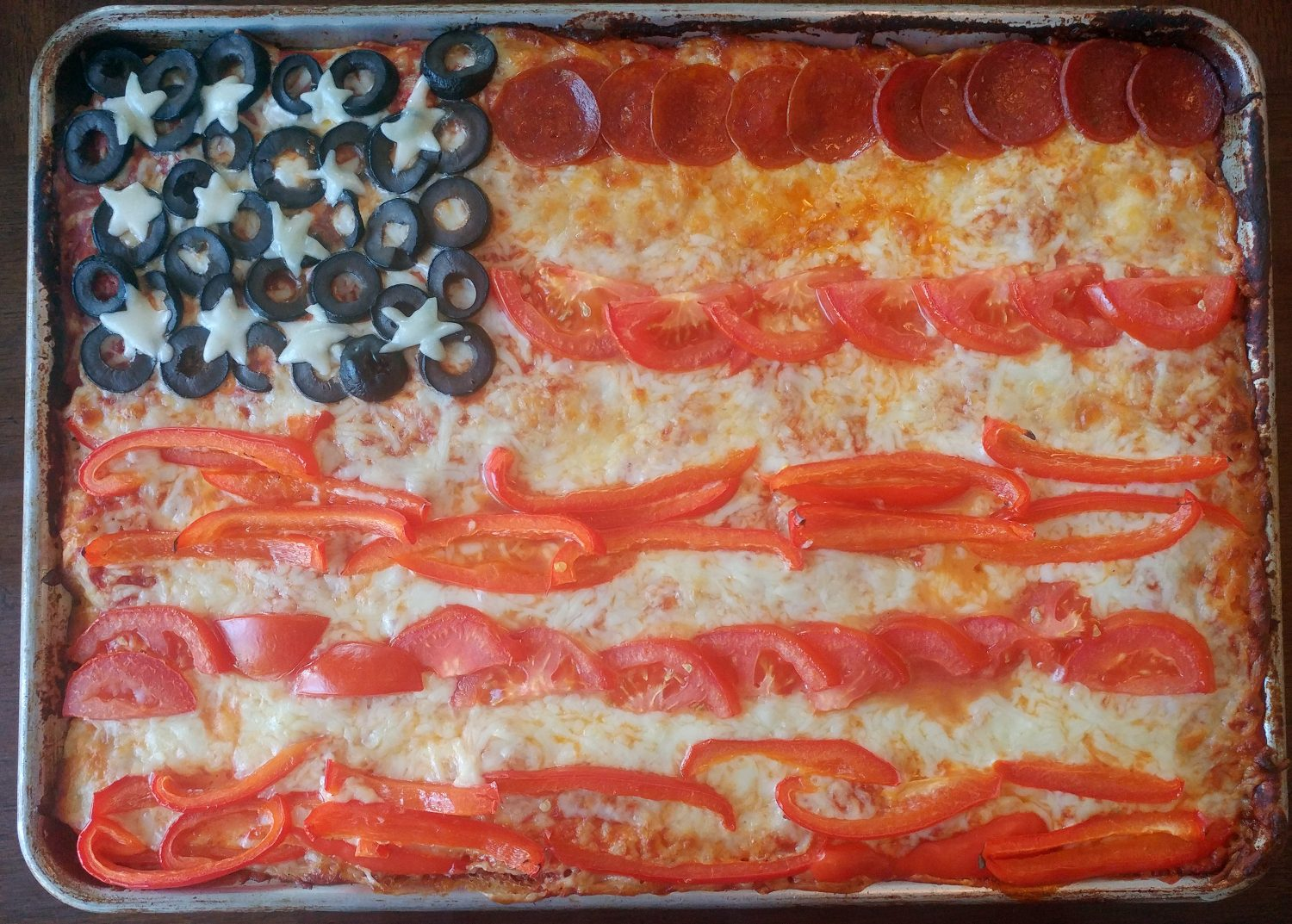 Patriotic Pizza With No Mess Pizza Dough In A Bag
