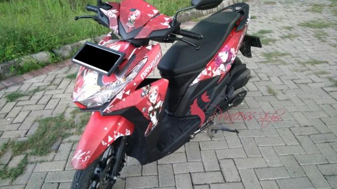 Toko Sticker Motor Ala Bis Malam Di Cirebon