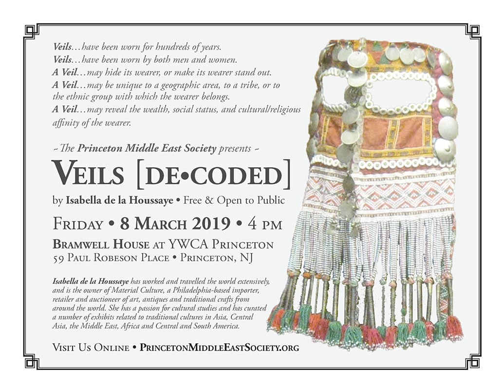 Princeton Middle East Society presentation on veils at Bramwell YWCA Princeton