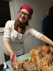 Nina White, of Bobolink Dairy & Bakehouse, with a selection of artisan breads and cheeses from the Milford, NJ farm.