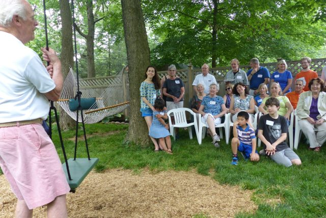 Larry Apperson hosted the fourth anniversary picnic for volunteers at Cornerstone Community Kitchen.