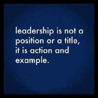 leadership is