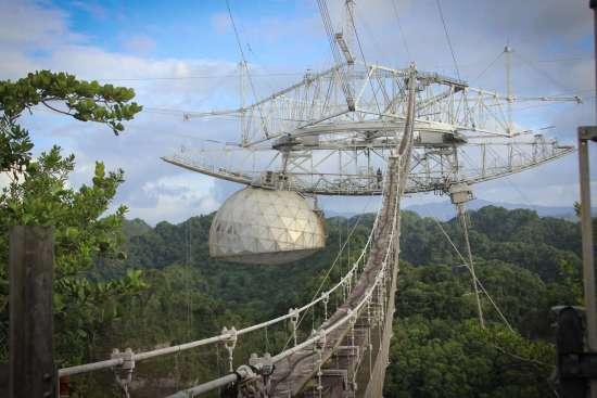 Arecibo Radio Telescope Collapse, Initial Reports And Analysis Arecibo-4-antenna-platform-WMFE