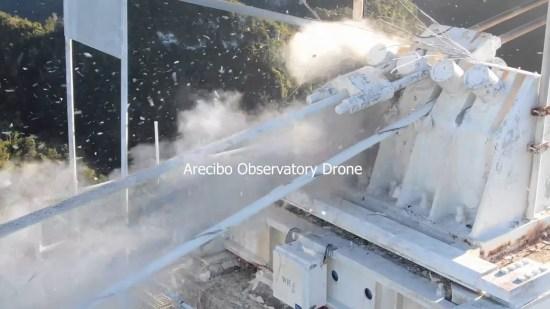 Arecibo Radio Telescope Collapse, Initial Reports And Analysis Arecibo-cable-break-1