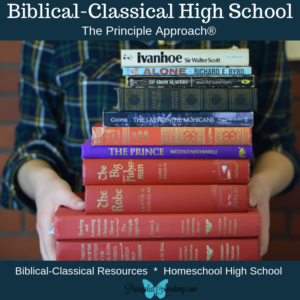 Principle Approach, Biblical Classical Literature List, Literature Studies, Classical Education, Christian Classical Education, Biblical Classical Education, Christian Homeschool, Principled Academy, Bible Principles Homeschool