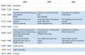Schedule Day 2