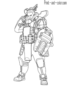 Apex Legends Coloring Pages Print And