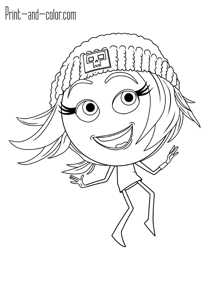 Emoji Coloring Pages Print And