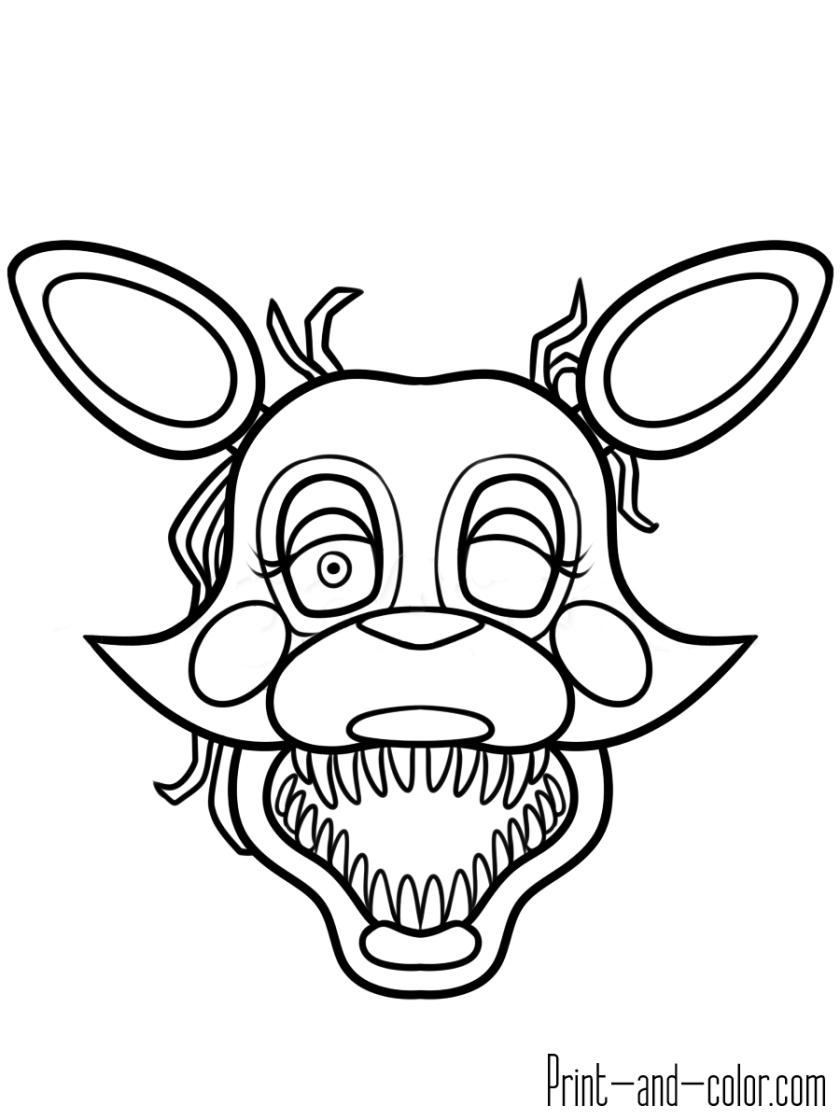 five nights at freddy's coloring pages  print and color