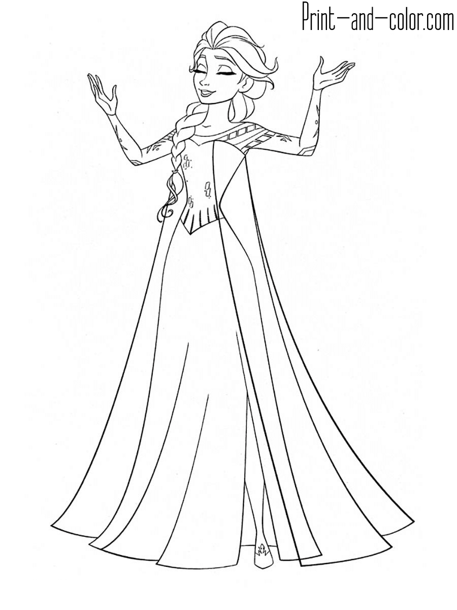 Frozen 2 Giant Coloring Pages - Free Coloring Page