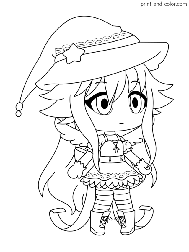 Gacha Life coloring pages  Print and Color.com