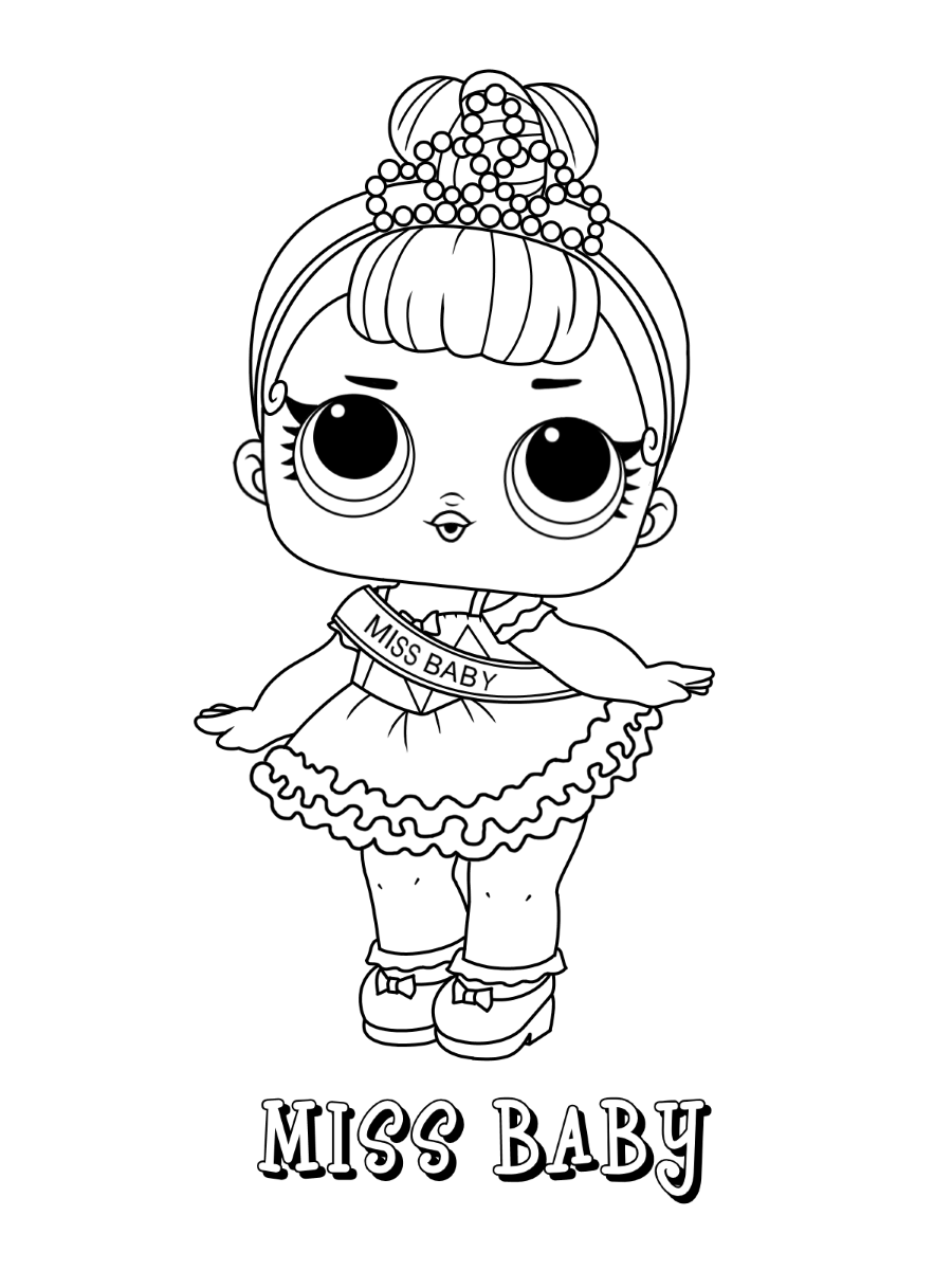Baby Lol Surprise Doll Coloring Pages Printable Novocom Top
