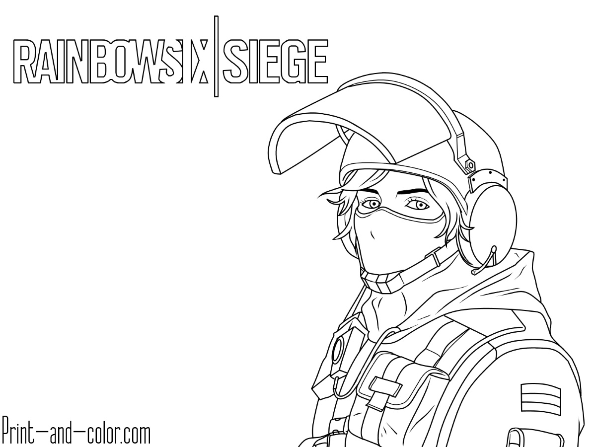 Rainbow Six Siege Coloring Pages Print And Colorcom Sketch