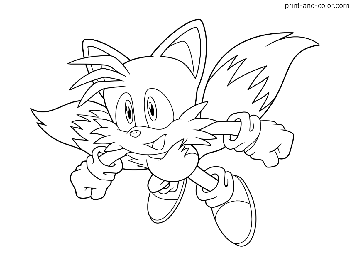Sonic The Hedgehog Coloring Pages Print And Color Com