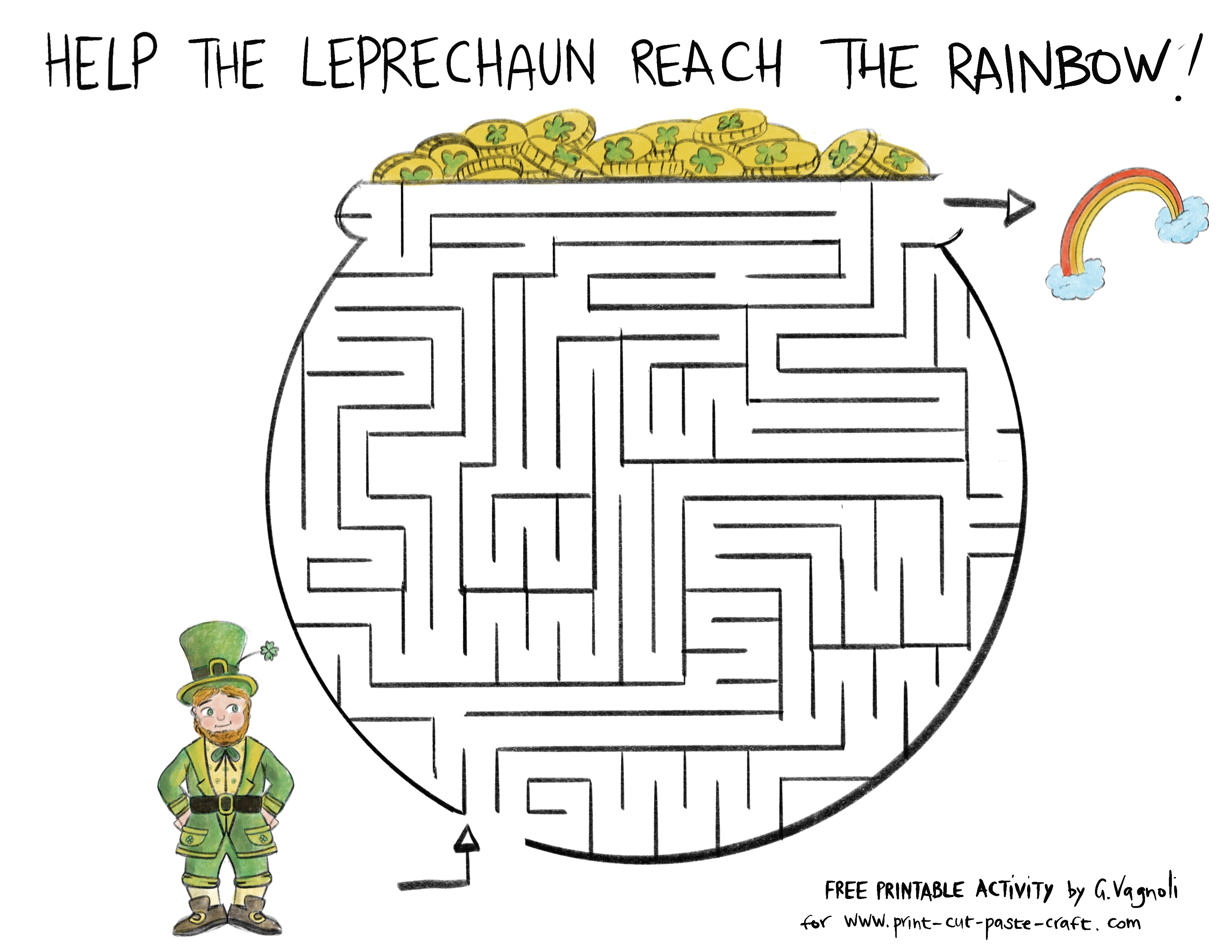Free Printable Saint Patrick S Day Maze