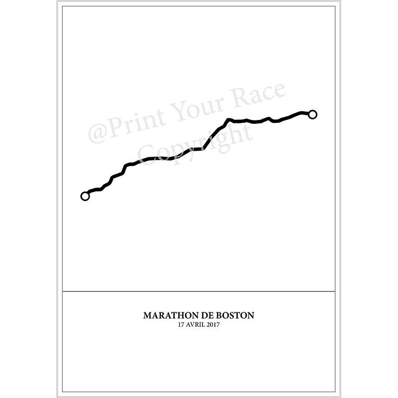 Frame your customized poster of Boston Marathon 2017