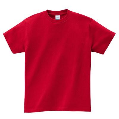 00085-CVT ヘビーウェイトTシャツのガーネットレッド