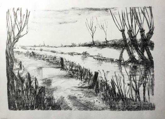 A Landscape Waiting. Lithograph.