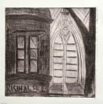 St John's College monochrone etching 1
