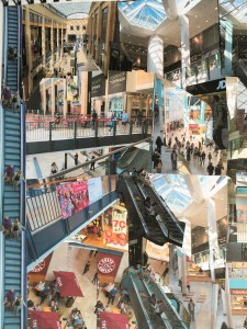 Grand Arcade, Cambridge, UK photocollage