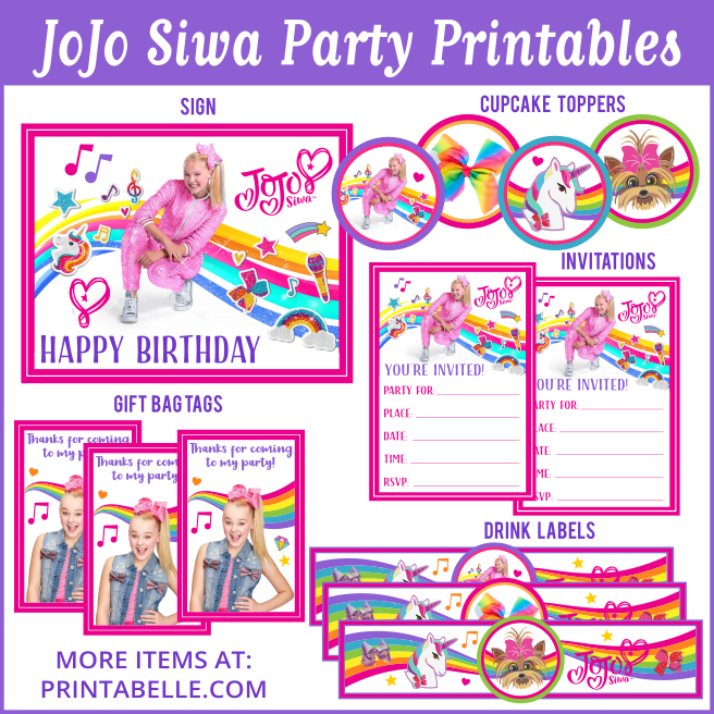 jojo siwa party printables