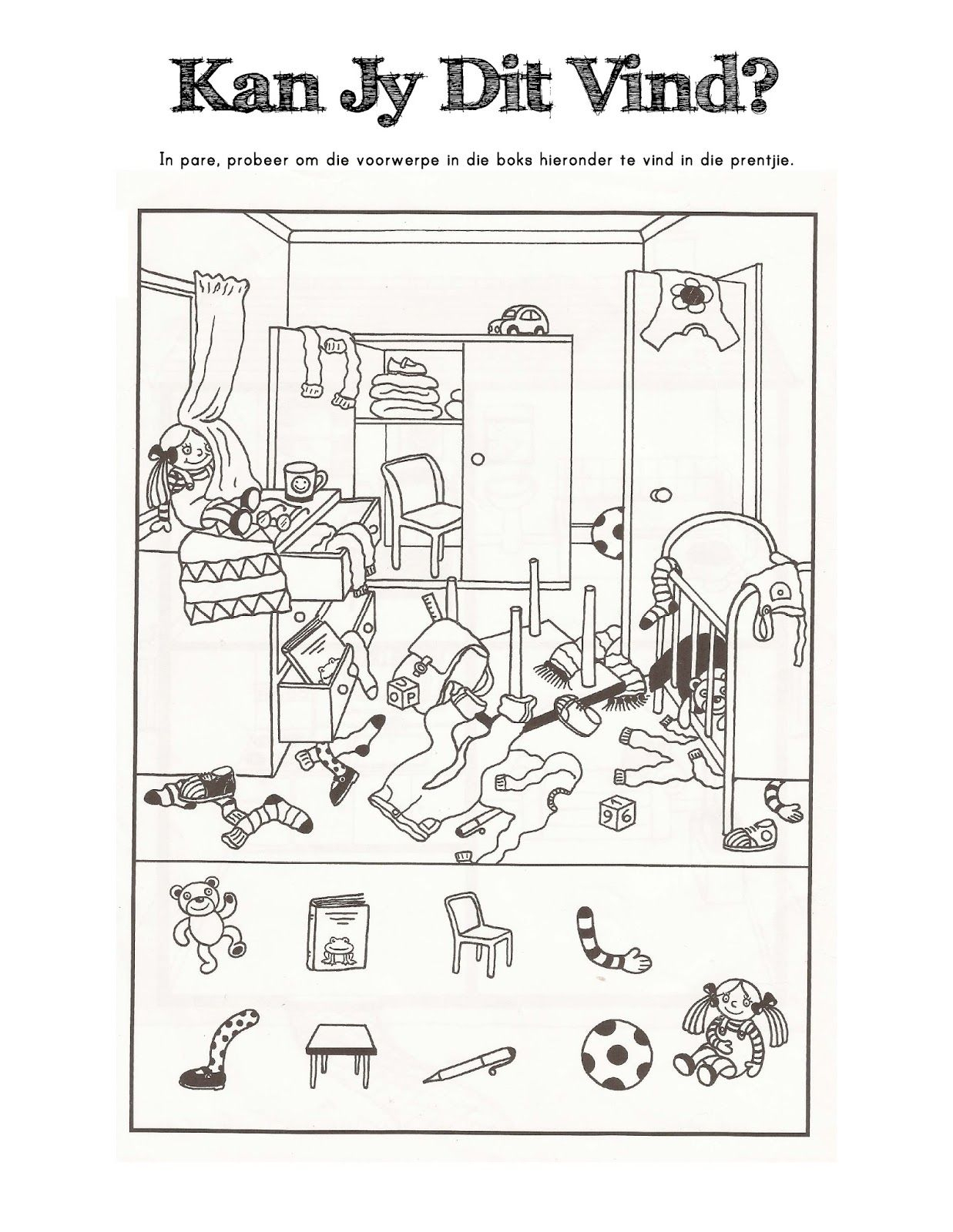 Printable Crossword Puzzles In Afrikaans