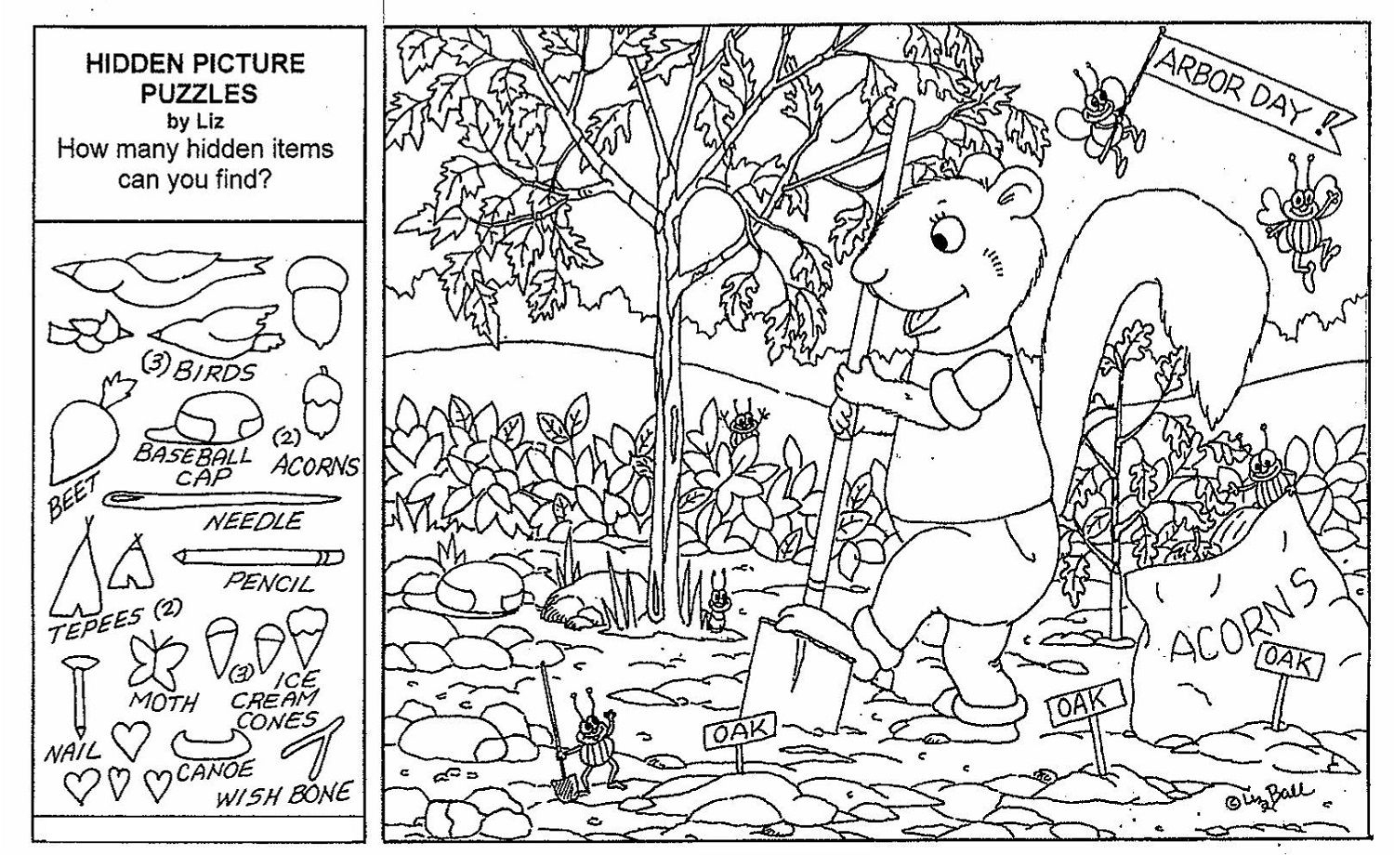 Coloring Page Halloween Hidden Picture Printableee Best