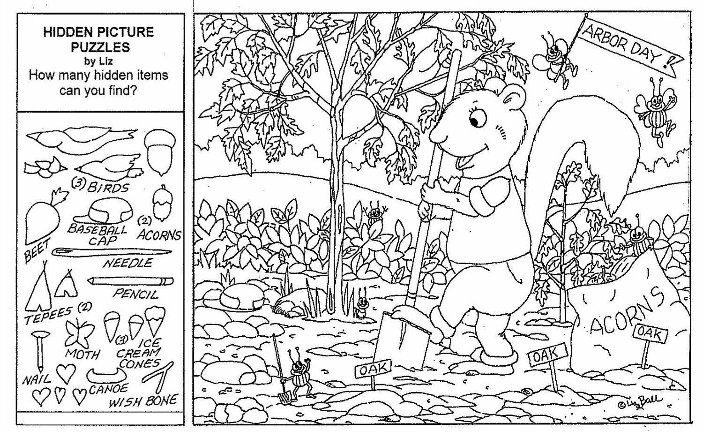 Coloring Page Halloween Hidden Picture Printableee Best