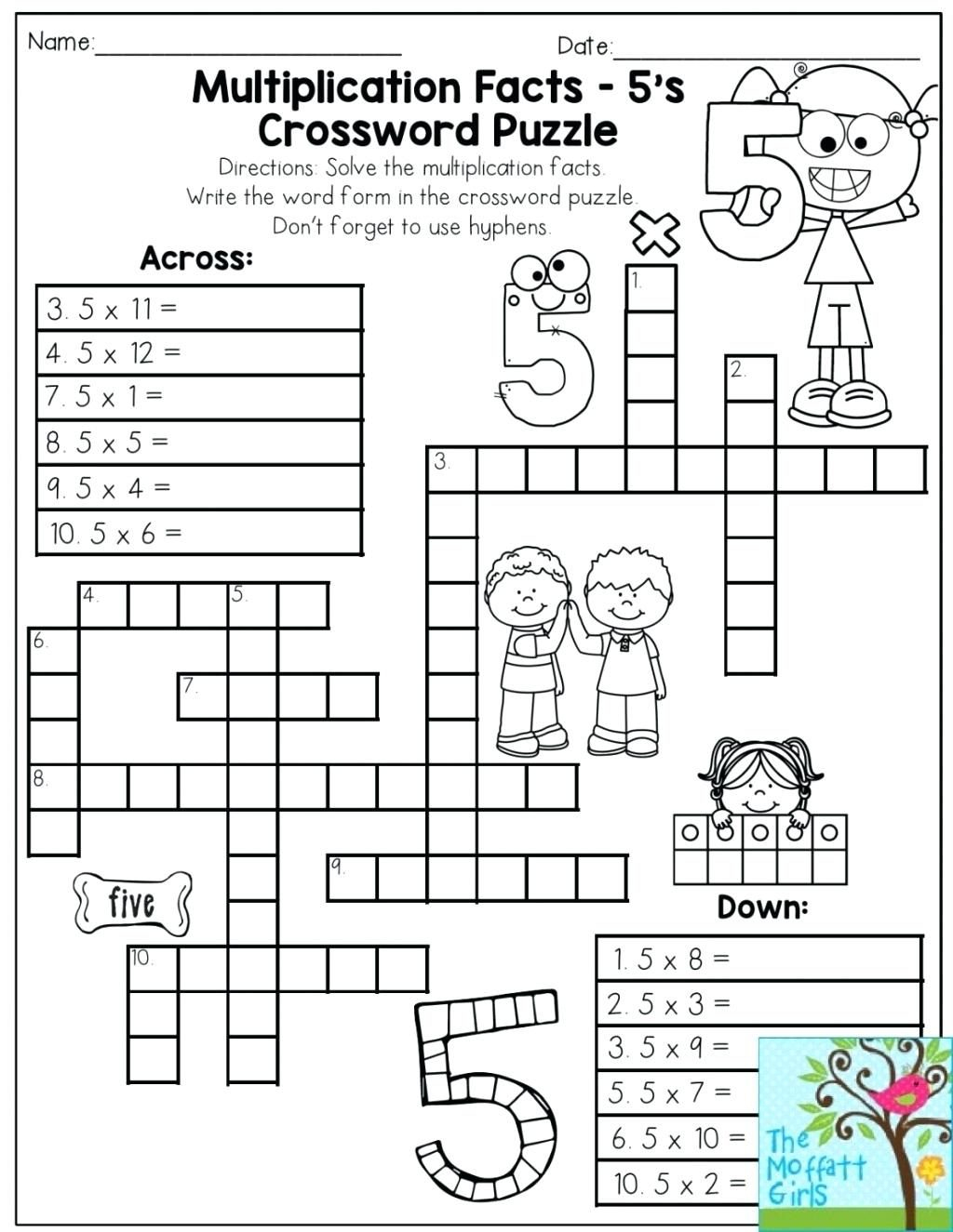 Printable Multiplication Puzzles