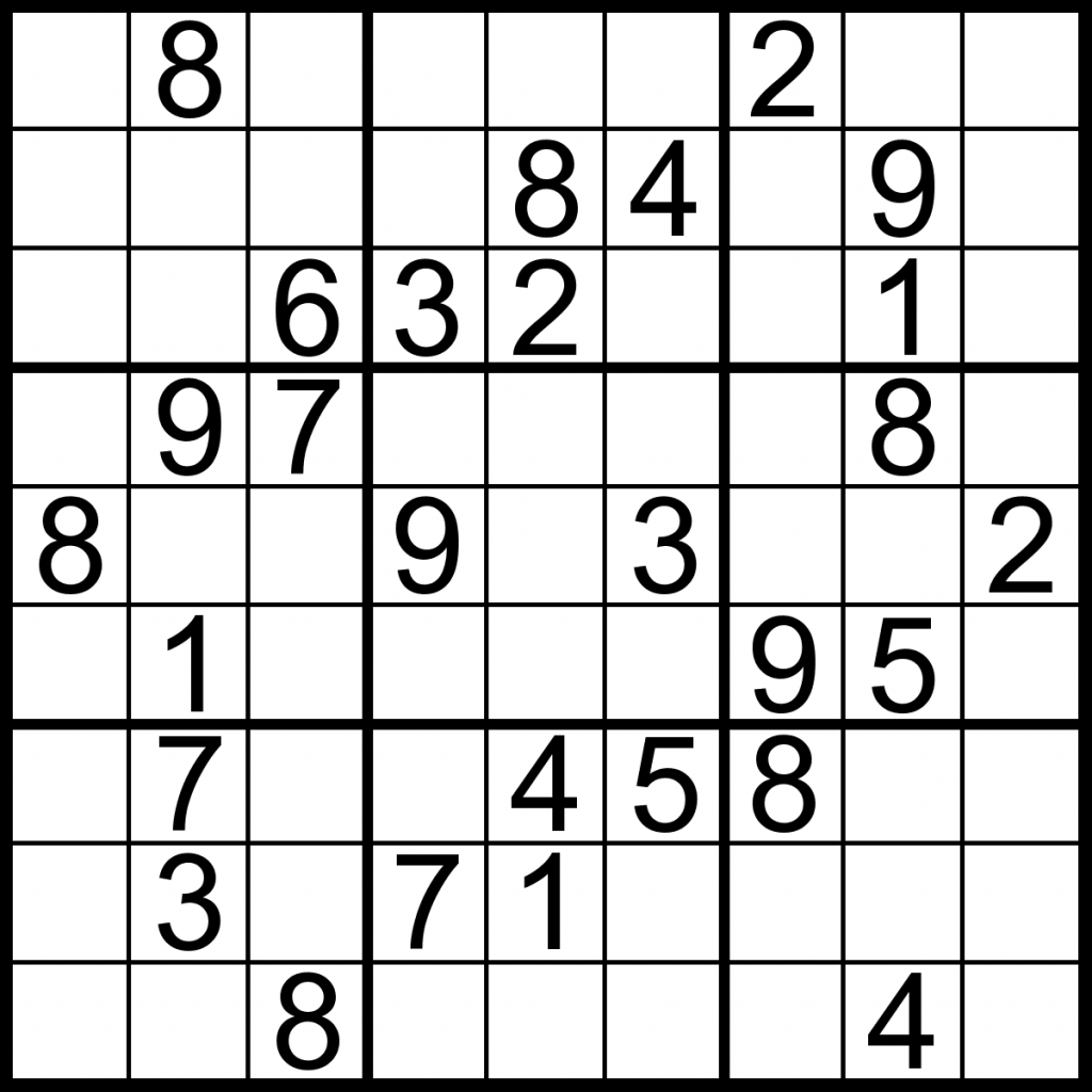 Printable Sudoku Puzzles Easy 1 Answers