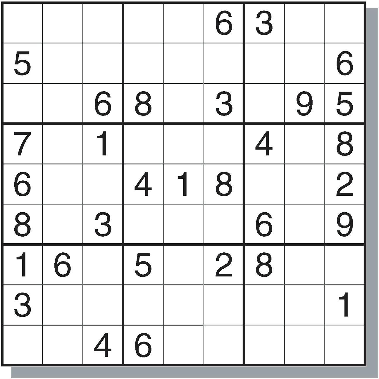 Printable Sudoku Puzzles Easy 1