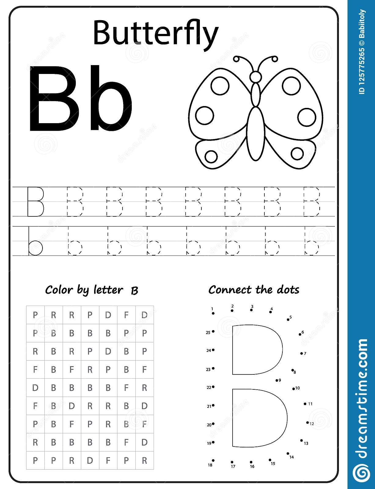 Letter B Puzzle Printable