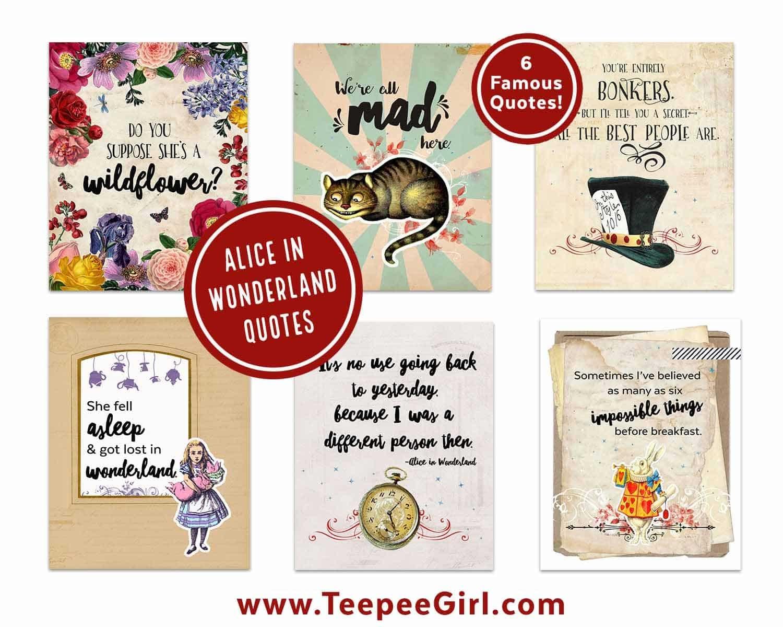 Free Vintage Alice In Wonderland Printables