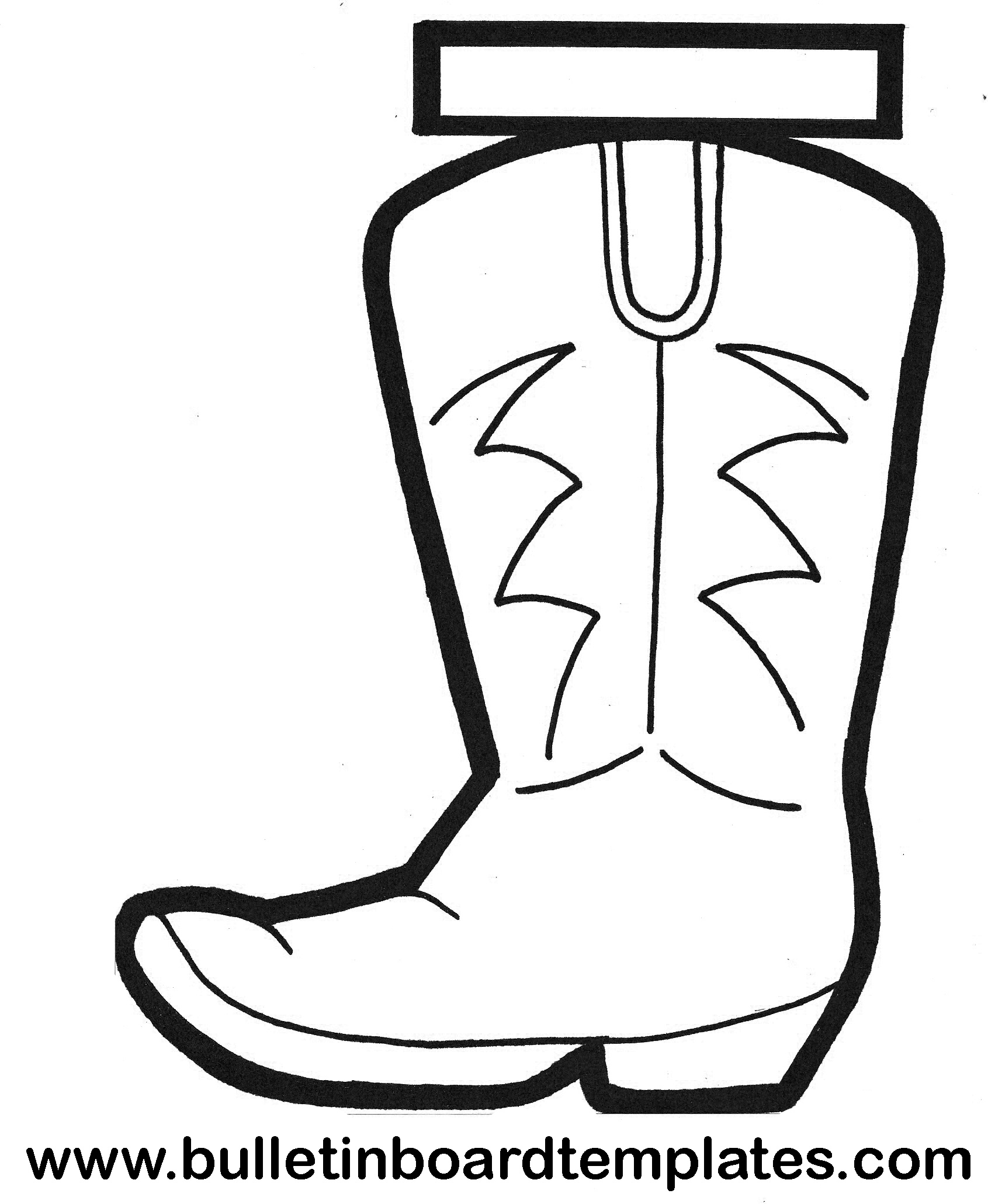 Free Printable Cowboy Boot Stencil