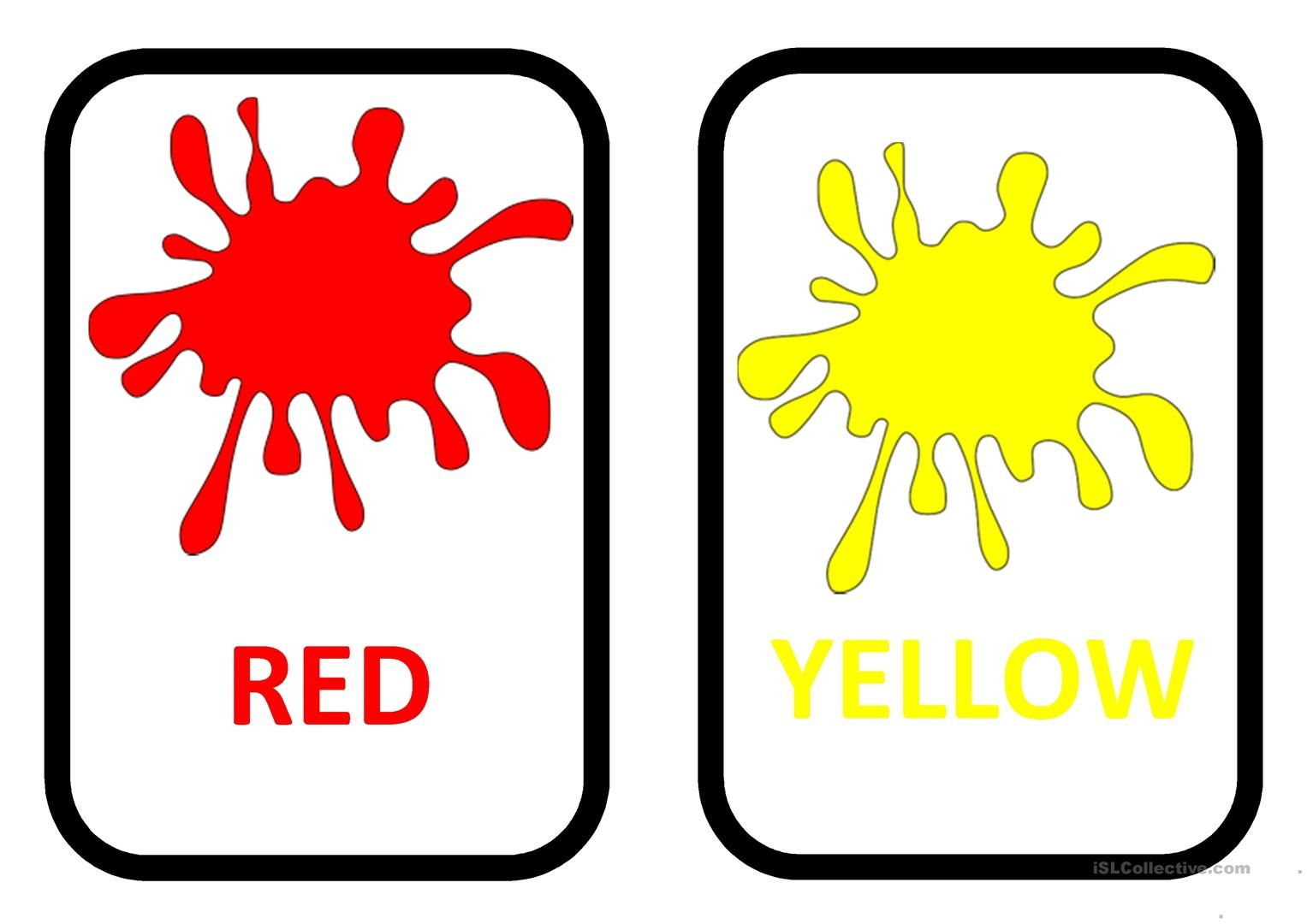 Free Colour Flashcards For Kids