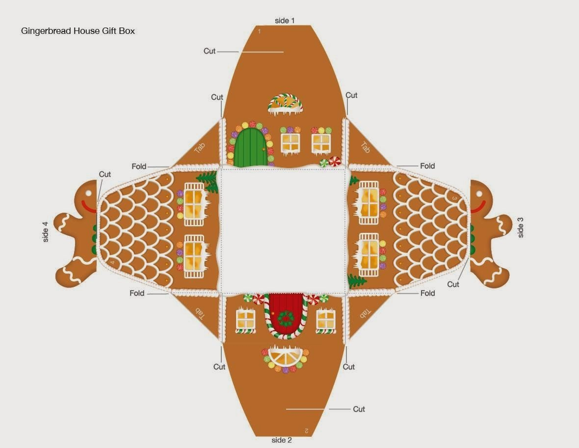 Printable Gingerbread House Template To Color