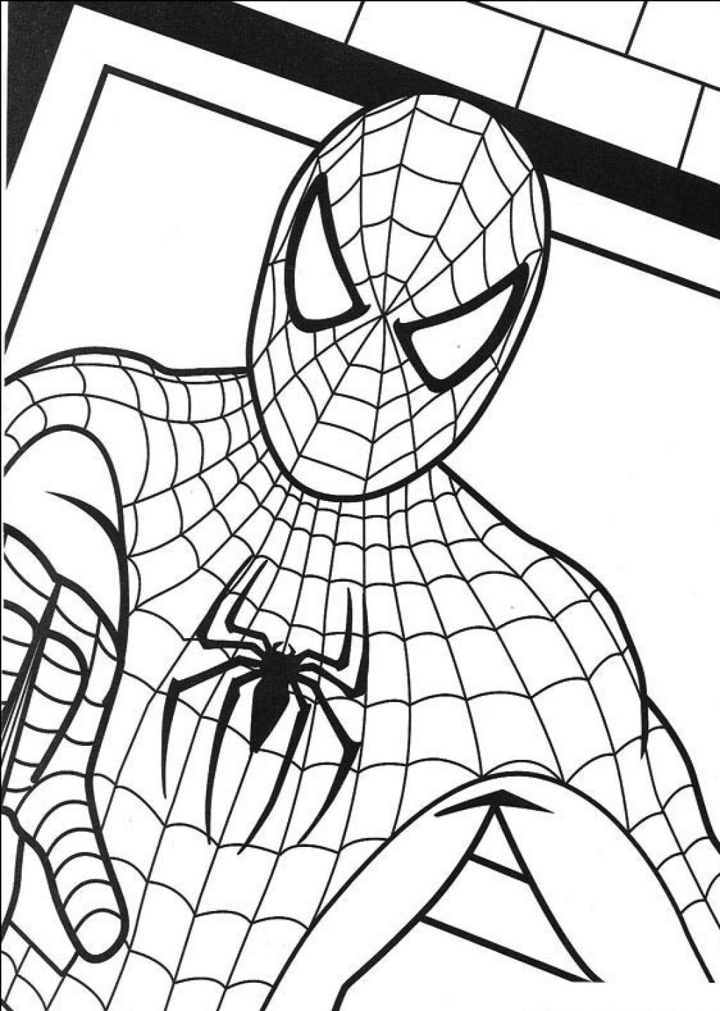 Easy Spiderman Pictures To Draw Free Printable Spiderman