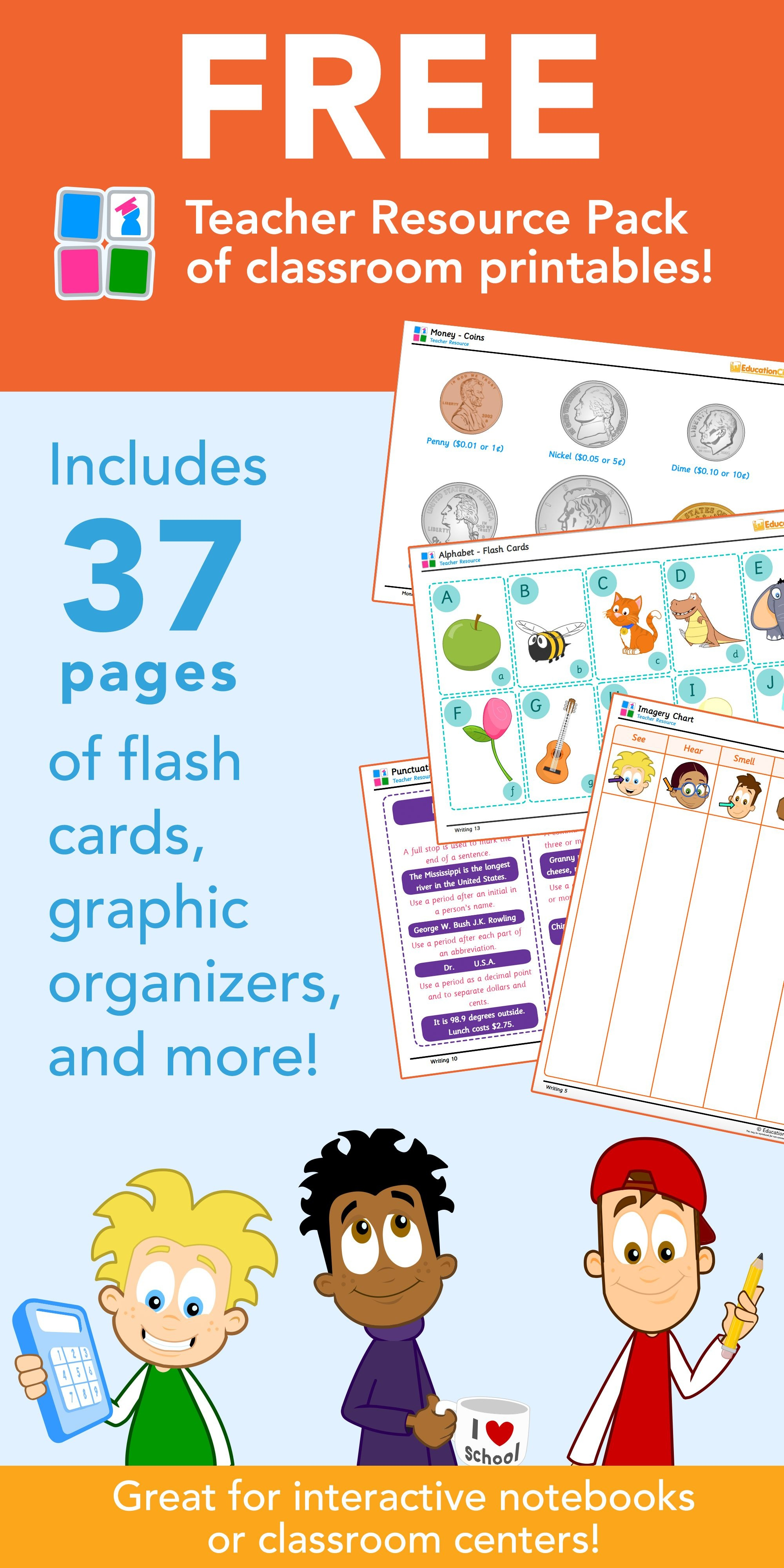 Free Teacher Resources Printables