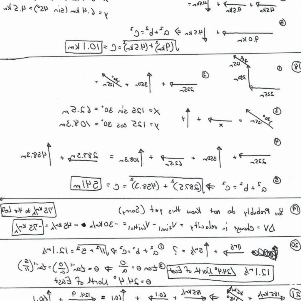 High School Physics Vector Worksheets Baf